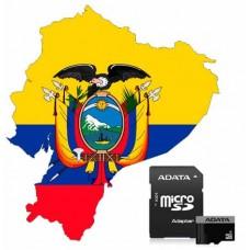 Mapa para GPS Garmin de Ecuador Ruteable y Topografico